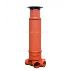 Сборный смотровой колодец Uponor Т2 для ливневой канализации 400/110 мм, H (190-240) см