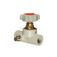 Вентиль прямоточный пластиковый с выпускным клапаном