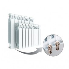 Биметаллический радиатор Rifar Monolit Ventil 350, 14 секции, нижнее подключение