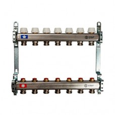 Коллектор Stout (Италия) с запорнорегулирующими и термостатическими вентилями (без расходомеров)