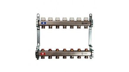 Коллектор Stout (Италия) с запорнорегулирующими и термостатическими вентилями SMS 0922