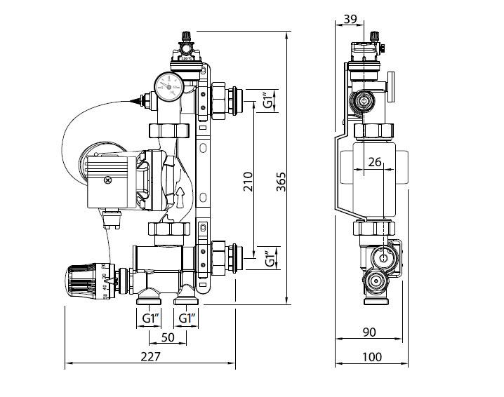 Габаритные размеры Solomix Uni-Fitt
