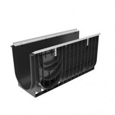 Лоток водоотводный Gidrolica Super ЛВ-30.38.49,6 - пластиковый, кл. Е600
