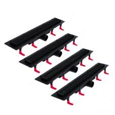 Душевые лотки MIANO длиной 600 мм серии NIGHT DESIGN в черном корпусе