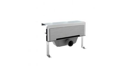 Душевой лоток (щелевой) MIANO 360 мм с комбинированным сифоном и боковым сливом, свободный монтаж