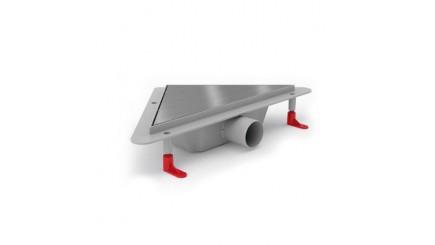 Угловой трап для душа с решеткой KLASSIK (комбинированный сифон, боковой слив)