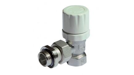 Вентиль термостатический верхний угловой Purmo MTB131 с ручным регулирующим элементом в комплекте