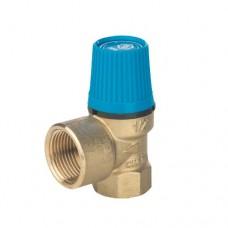 Клапан предохранительный для систем водоснабжения  Stout (синяя ручка)