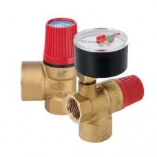 Клапан предохранительный SVH для систем отопления Stout (красная ручка)