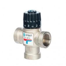 Термостатический смесительный клапан для систем отопления и ГВС Stout (Италия)