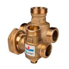 Термостатический смесительный клапан для твердотопливных котлов Stout (Италия)