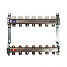 Коллектор Stout (Италия) с запорно-регулирующими и термостатическими вентилями (без расходомеров)