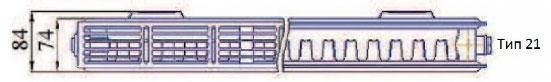 Радиатор Прадо в разрезе